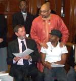 David Blunkett, Lee Jasper, Asher Senator