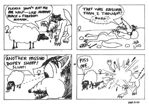 The Apostles' 1st EP - passivism cartoon